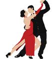 Salsa dancing vector image