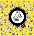 sign roller derby and seamless pattern on the vector image