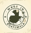 Stamp with map of Guatemala vector image