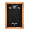 Vertical isolated menu chalkboard for cafes and vector image