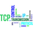 word cloud tcp vector image