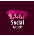logo social group vector image