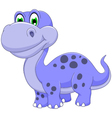cute dinosaur cartoon smiling vector image vector image