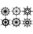 set of different rudders vector image vector image