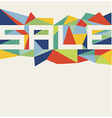 Trendy sale text geometric design vector image