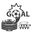 goal soccer football fan club vector image