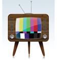Tv with static vector image vector image