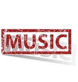 MUSIC outlined stamp vector image
