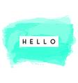 Hello Greeting Card Design vector image vector image