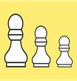 chess figure a pawn on a yellow background vector image