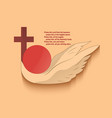 christian religious emblem vector image