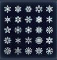 festive snowflakes set christmas holydays vector image