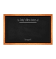 Horizontal menu chalkboard for cafes and vector image