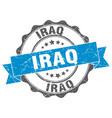 Iraq round ribbon seal vector image