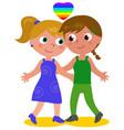lesbian couple vector image