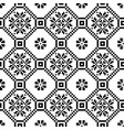 monochromatic ethnic seamless background seamless vector image