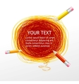 Pencils and text vector image