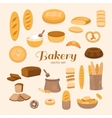 Set of bakery vector image