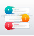 three steps clean infographic for business vector image