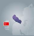Turkey information map vector image