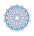 colorful intricate mandala with hearts icon vector image