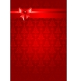 Red christmas holiday background with ribbon vector image