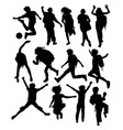 Back to School Silhouettes vector image
