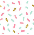 cute simple golden glitter sprinkles seamless vector image