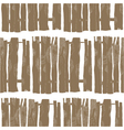 seamless pattern of wooden fences vector image