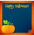 Bright Halloween orange paper pumpkin vector image vector image