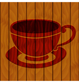 Coffee cup on a wooden background vector image