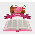 cupcake recipe book vector image