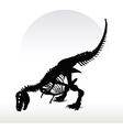dinosaurs trex skeleton vector image