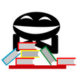 evil smile and the book vector image