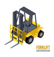 isometric forklift storage equipment vector image