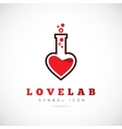 Love Laboratory Abstract Concept Symbol Icon or vector image
