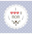 Mothers day vintage card vector image