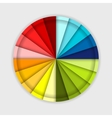 Palette of color wheel for your design vector image