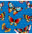 pattern butterflies vector image