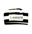 Prisoner cap with number vector image