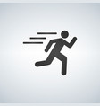 runnin man icon on white background fitness vector image