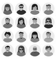 set of characters flat icons vector image
