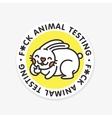 Stop animal testing sticker vector image