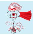 superhero girl vector image