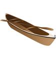 Wooden canoe vector image