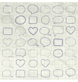 Pen Drawing Speech Bubbles Borders Frames vector image