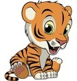 Little funny tiger vector image