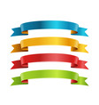 different color ribbons collection template for a vector image vector image