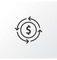 currency exchange icon symbol premium quality vector image