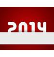 Happy new year 2014 design vector image